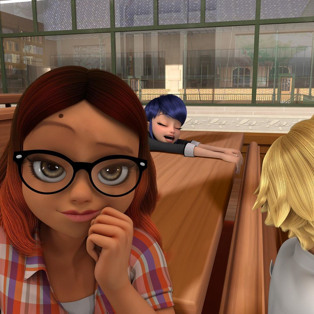 Everyone's back in class! Letting Marinette sleep a bit more, though. Don't
