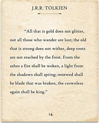 J R R Tolkien All That Is Gold Does Not Glitter Book Page
