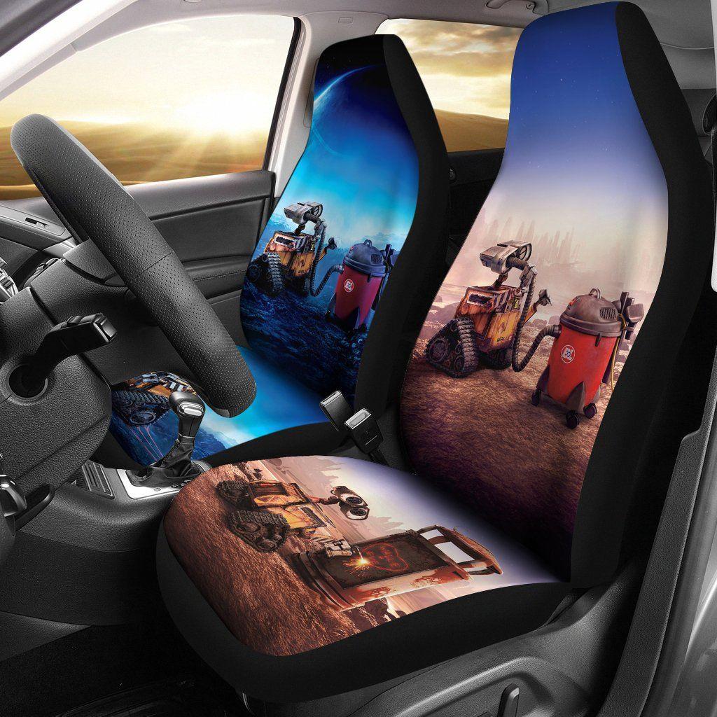 Enjoyable Wall E Movie Disney Cute Car Seat Covers Lt03 Wall E Car Machost Co Dining Chair Design Ideas Machostcouk