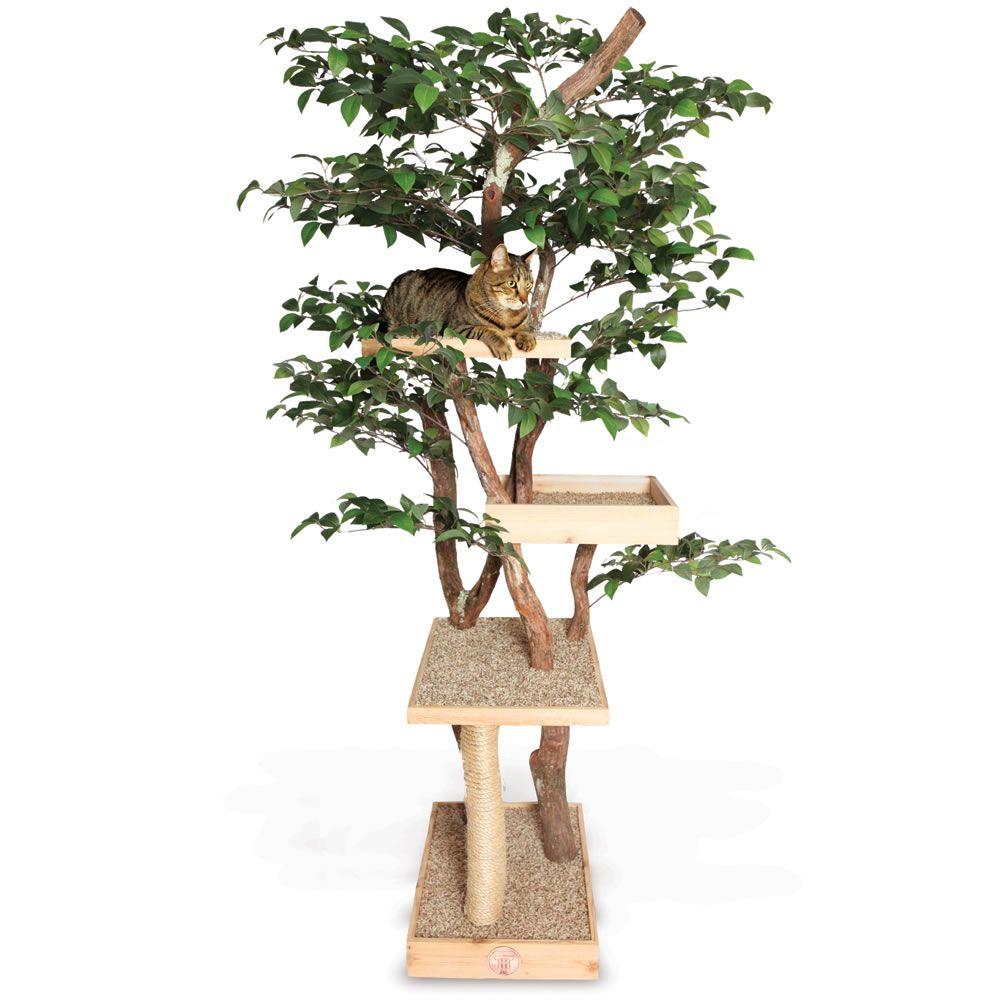 The Feline Tree House - Hammacher Schlemmer