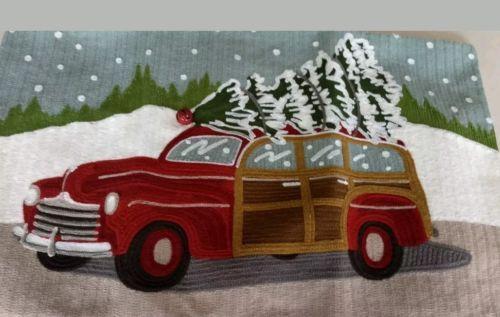 Nwt Pottery Barn Woody Wagon Christmas Pillow Cvr