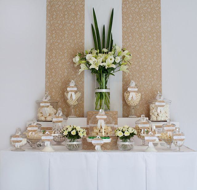 Wedding Candy Buffet Ivory And Brown Candy Buffet Wedding