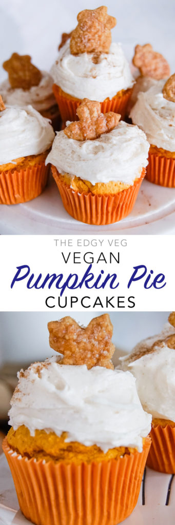 Vegan Pumpkin Cupcakes with Pumpkin Spice Frosting | The Edgy Veg