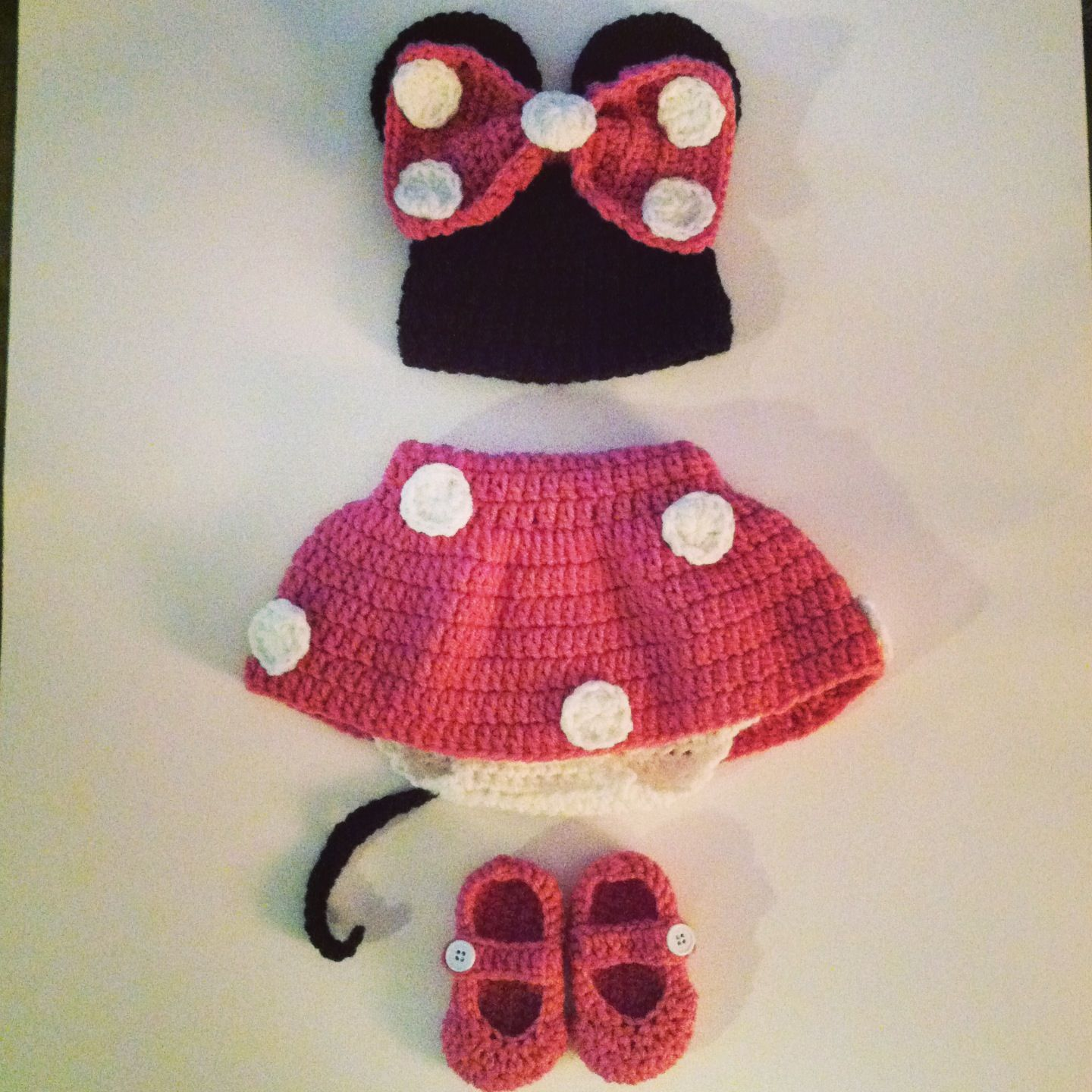 Minnie Mouse Crochet Newborn Outfit Creations By Jackie Baby