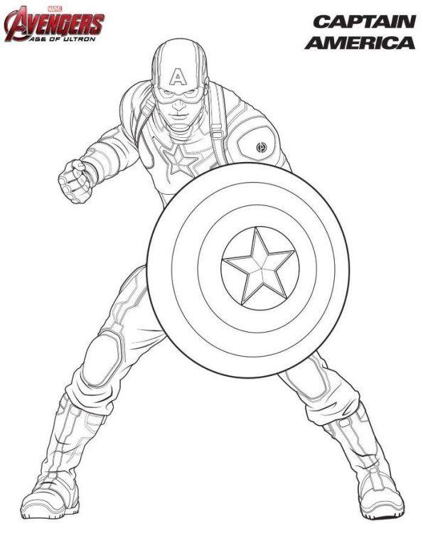 Ausmalbilder Avengers Captain America Malvorlagen Avengers