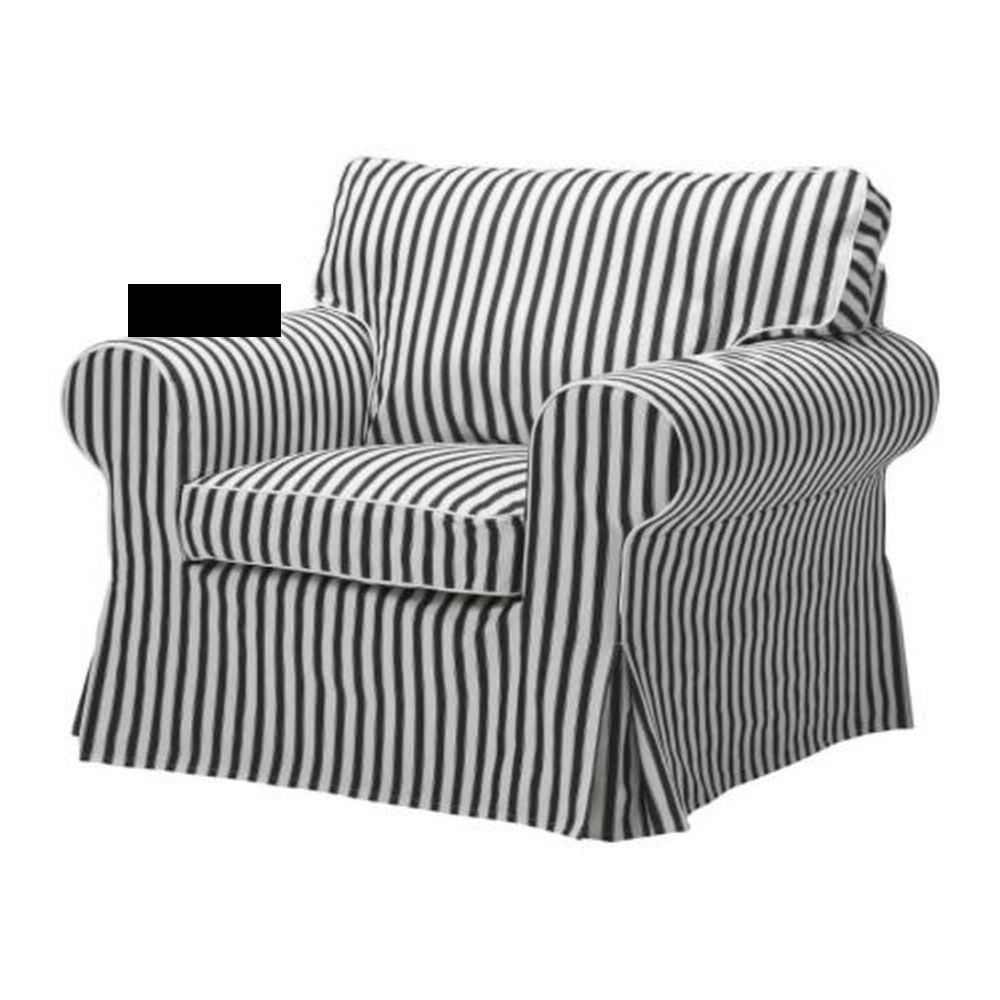 Ikea Ektorp Armchair Slipcover Chair Cover Vallsta Black White Stripes Slipcovers For Chairs Armchair Slipcover World Market Dining Chairs