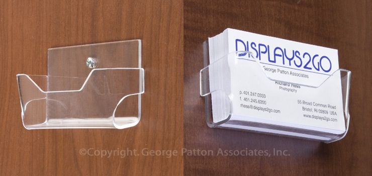 Single Pocket Acrylic Business Card Holder For Wall Mount Open Design Clear Business Card Holders Holder Design Organization Hacks