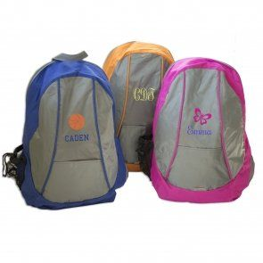 6dc32612c394 Embroidered Two Tone Knapsack - Personalized Backpacks