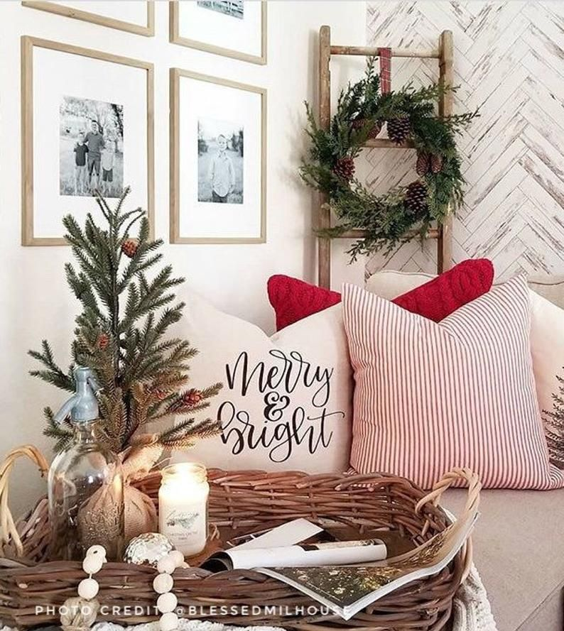 Pin By Sldorazio On New Bedroom Ideas In 2021 Throw Pillows Christmas Christmas Pillow Covers Christmas Pillows Christmas decorations for bedroom 2021