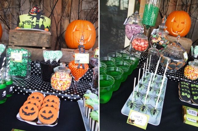Mesa dulce para la fiesta de Halloween Ideas Pinterest Mesas