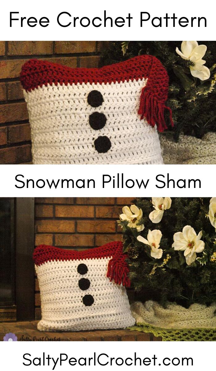 Snowman Pillow Sham – crochet