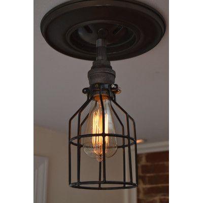 West Ninth Vintage Minimalistic 1 Light Semi Flush Mount