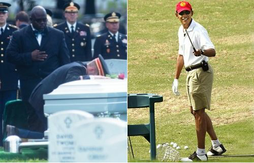 Obama bucks tradition. .bypasses 2 star military funeral Disgraceful pic.twitter.com/DVPZwqZmpS