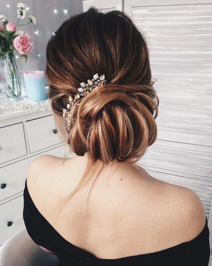 29 Cool Wedding Hairstyles For The Modern Bride: Beautiful Low Bun Wedding Hair Inspiration