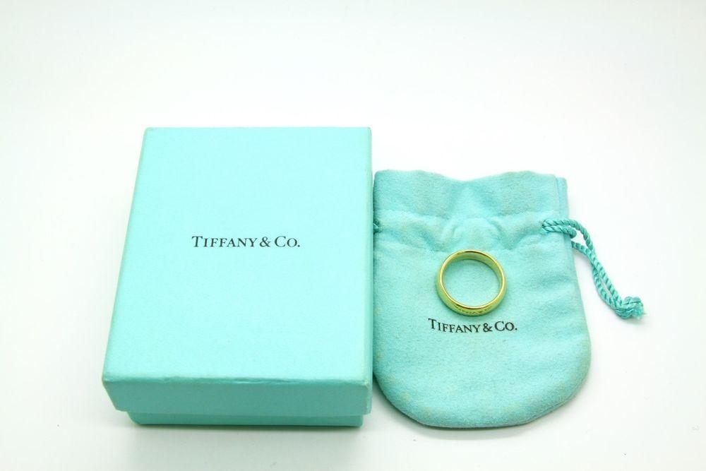 Tiffany & Co Lucida Wedding Band Ring,18K Gold,6mm wide,Retail-$1275,Size Ap 9.5 #TiffanyCo
