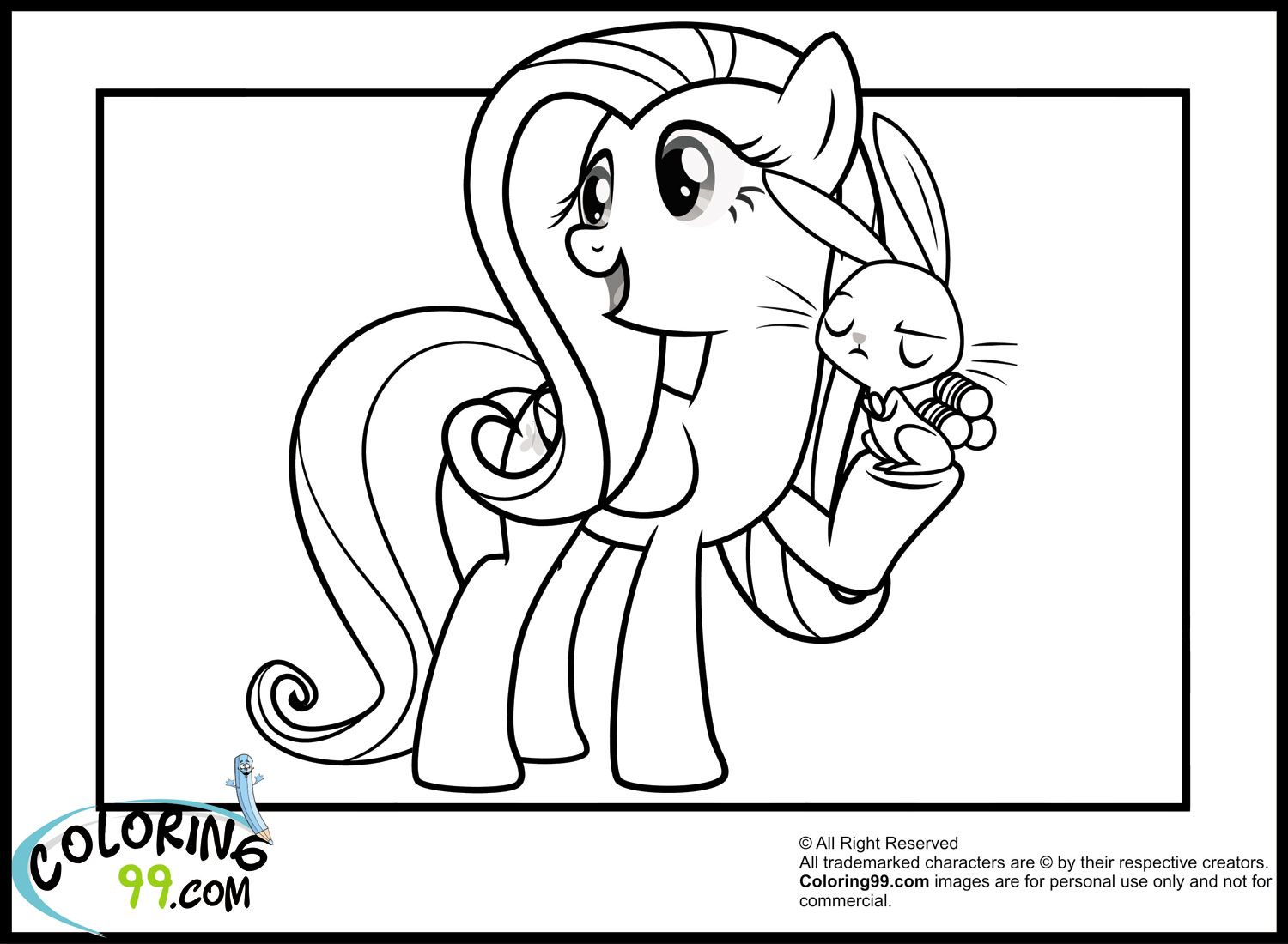 my little pony coloring pages | My Little Pony Fluttershy Coloring ...