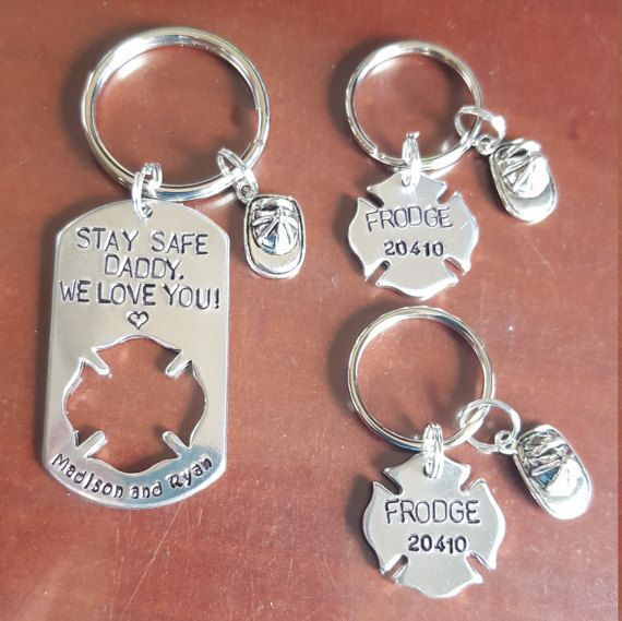 mom firefighter gift Firefighter keychain firefighter keychain stay safe we love you personalized firefighter gift gift for firefighter