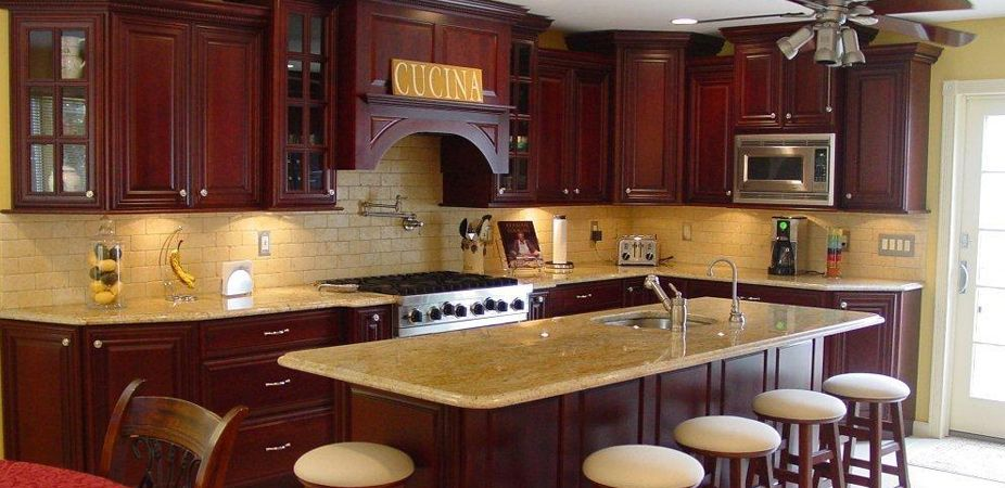 Cherry Cabinet Kitchen Pictures  Cherry Raised Cvr  Kitchen Stunning Cherrywood Kitchen Designs Design Inspiration