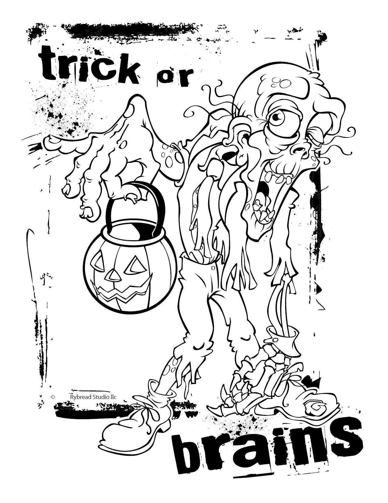 Zombie | Halloween Coloring Pages | Pinterest | Halloween coloring