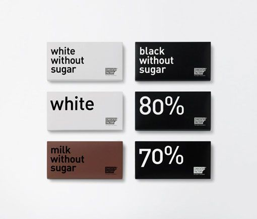 Chocolate Factory Packaging, simple and informative