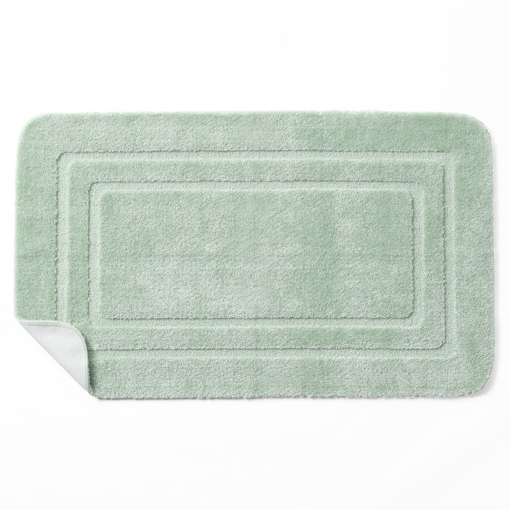The Twillery Co Aticus Tufted Leaf Bath Rug Color White Arctic