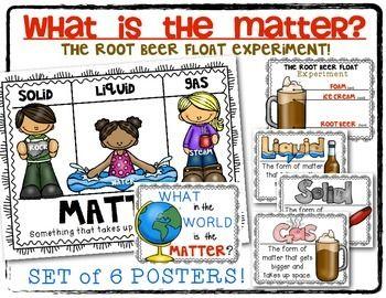 What's the Matter Root Beer Float Experiment Posters Kindergarten ...