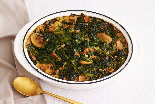 Spinach Mushroom Kugel