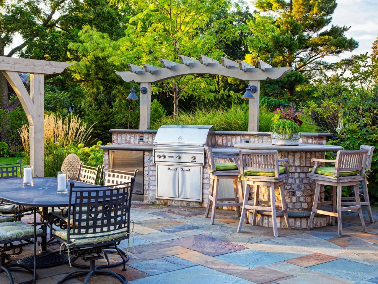 Pictures Of Outdoor Kitchens Gas Grills Cook Centers Islands Fascinating Outdoor Kitchen Bar Designs Review