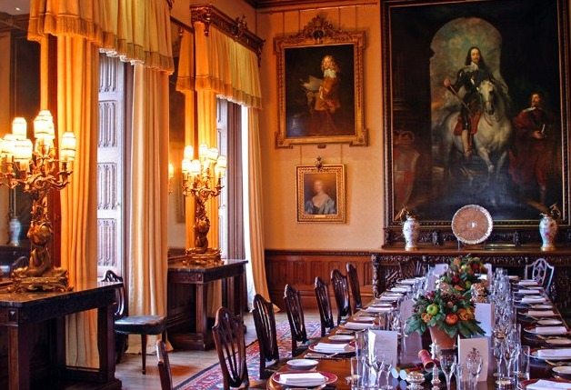 Highclere Castle Dining Room  Film Location Favorites  Pinterest Beauteous Highclere Castle Dining Room Design Inspiration