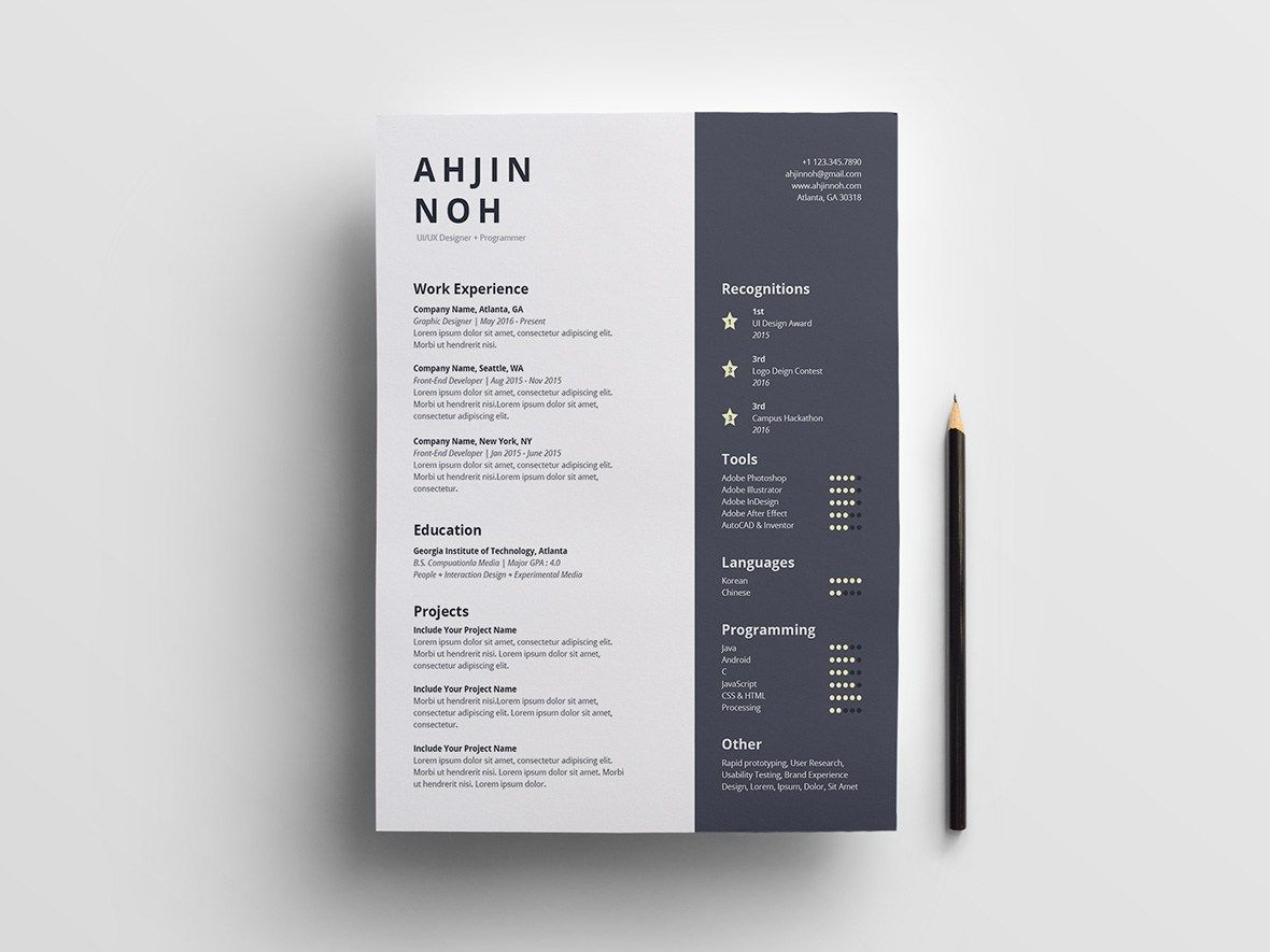 FREE resume template simple Resume template free