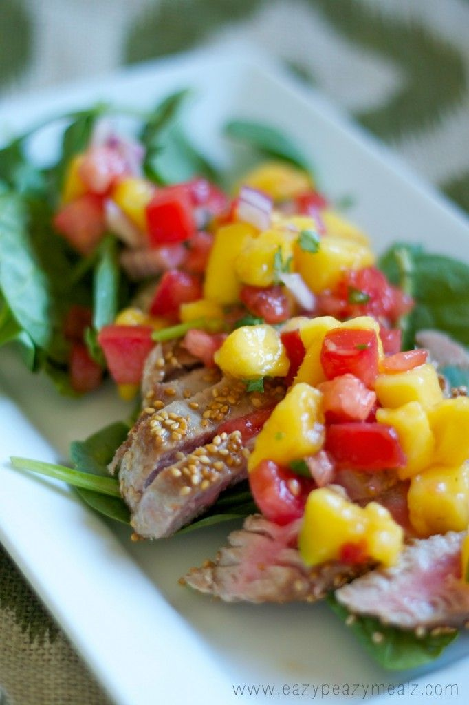 Toasted Sesame Ahi Salad- Beautiful, gluten free, full of flavor, and really easy to make!