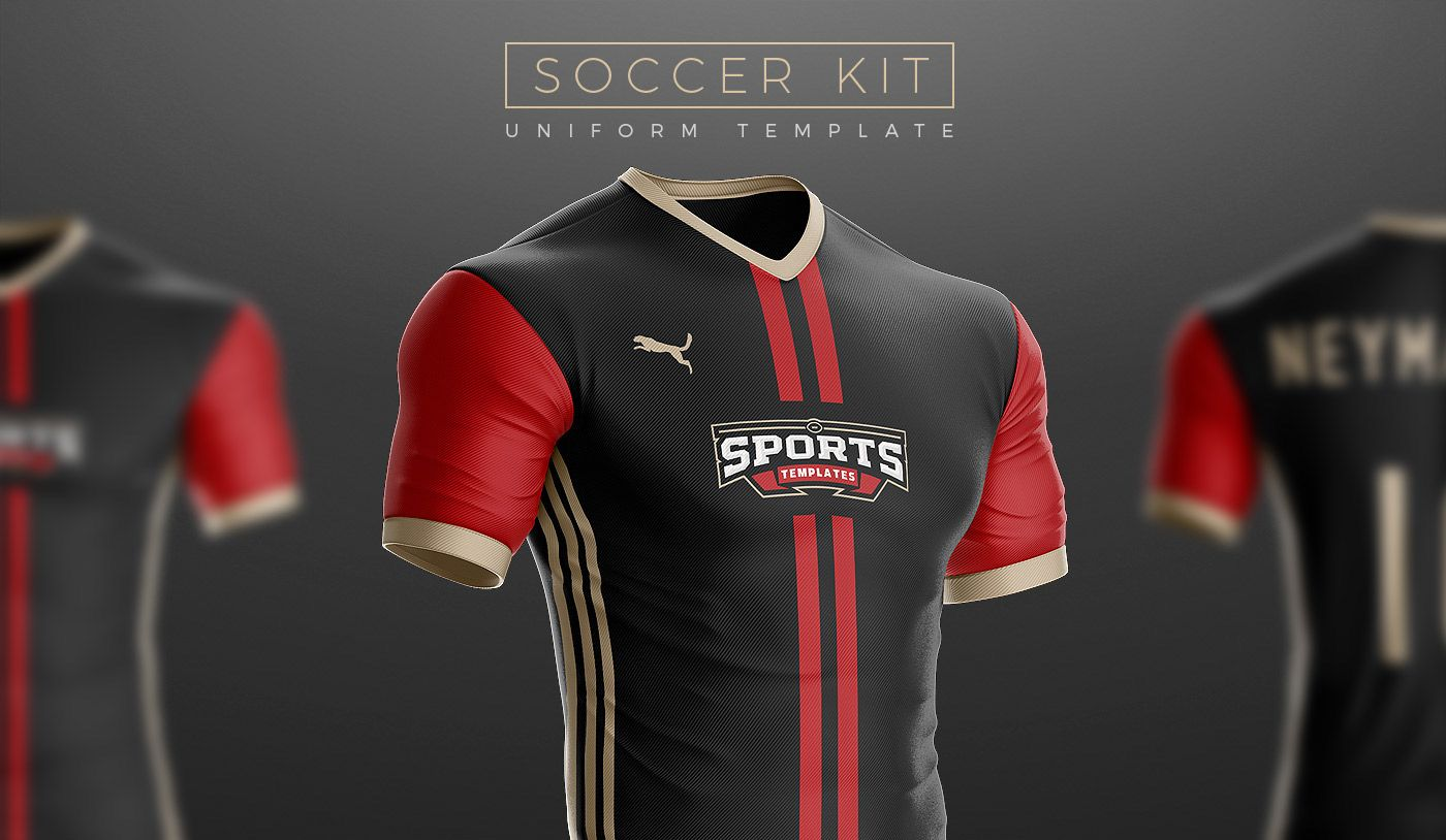 52cab46ae8d The Most realistic Soccer Uniform template on the Internet