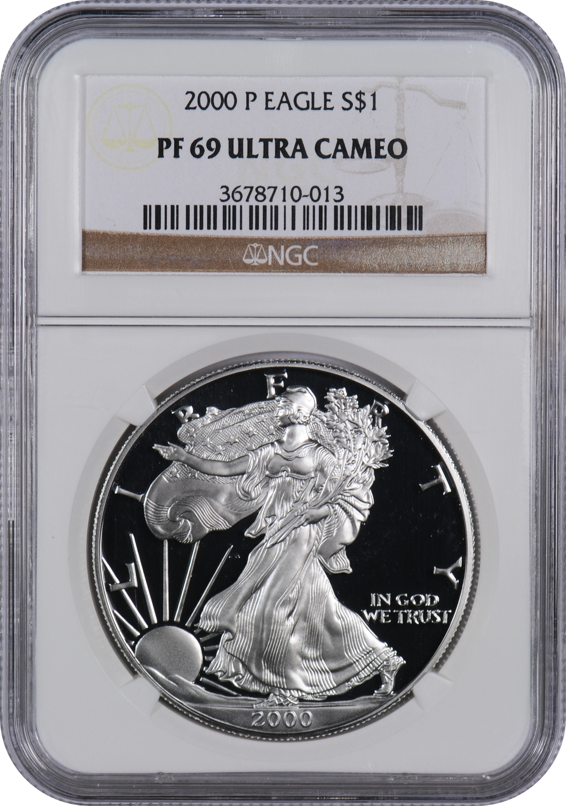 This 2000 P Silver Eagle Pf69 Uc Is A Popular Coin For Investors And Collectors Alike This Coin Has A Silver Eagle Coins Silver Eagles American Silver Eagle