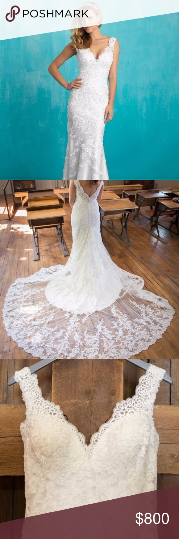 Spotted while shopping on poshmark allure wedding gown