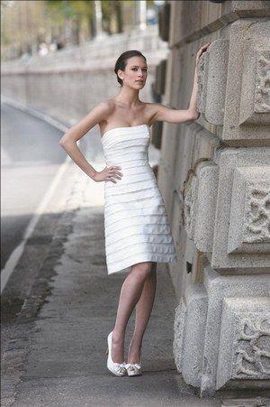 c0f7d9c6f Vestido de novia corto Noce de cire de Pronuptia - Vestidos de novia cortos  - enfemenino