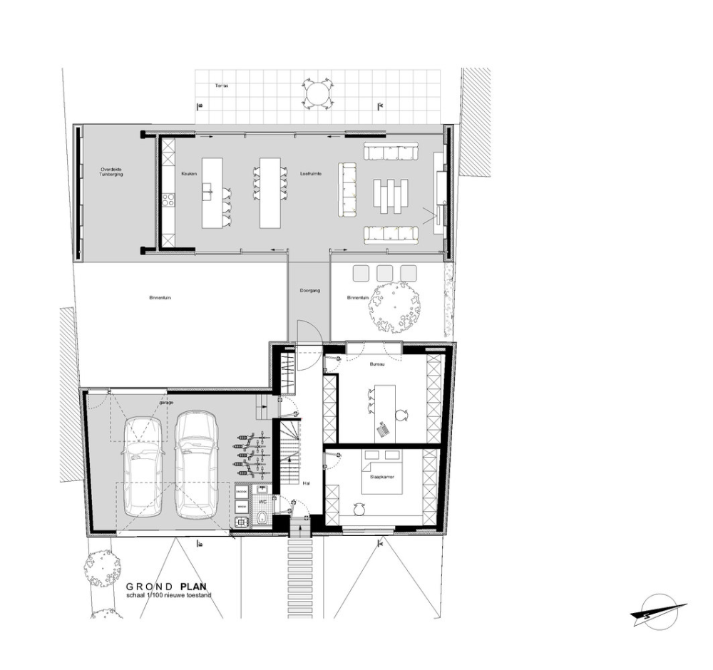 Gallery Of Goetsenhoven House Ast 77 Architecten 12 Ground Floor Plan Floor Plans House