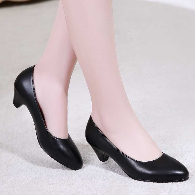 This is great forWholesale Black Working Shoes Women Pump Office Career Pointed  Toe  Womens PumpsStyle