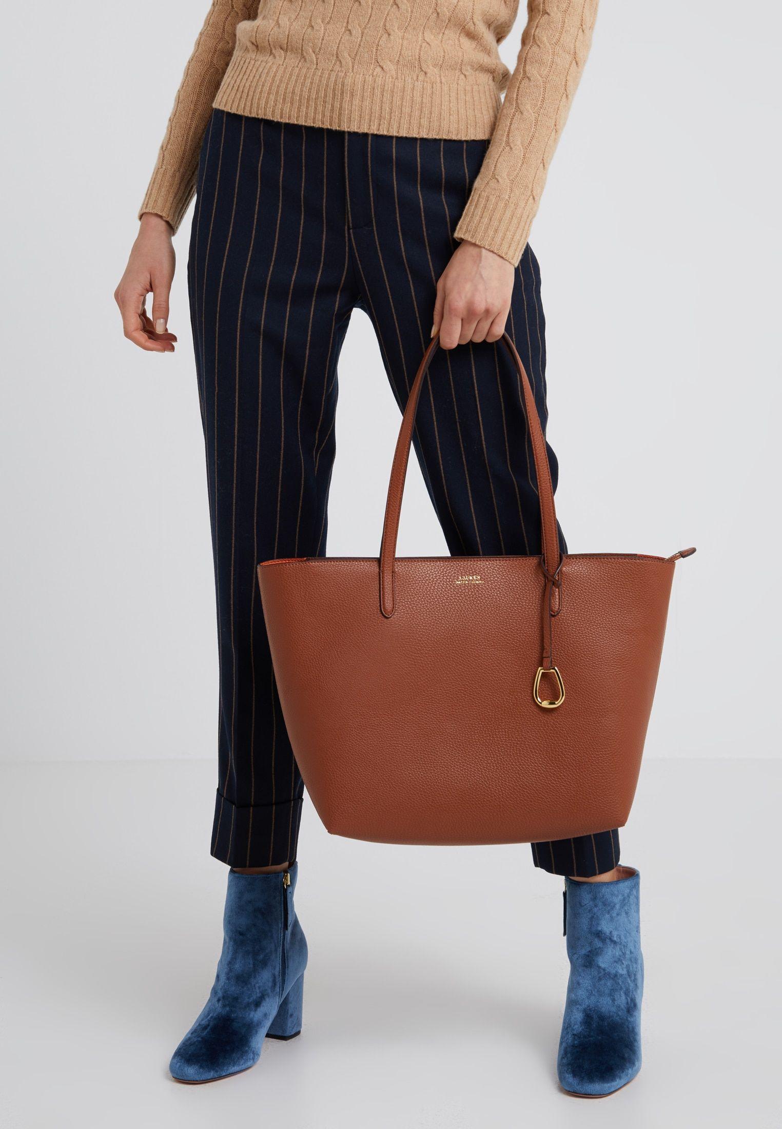 attraktive Mode tolle sorten online zum Verkauf VEGAN TOP ZIP TOTE - Handtasche - tan/orange @ Zalando.de ...