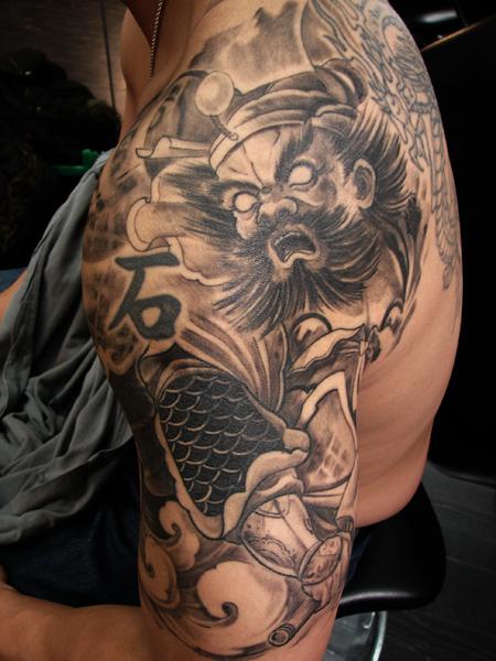 Toronto tattoo shop Warrior half sleeve tattoo