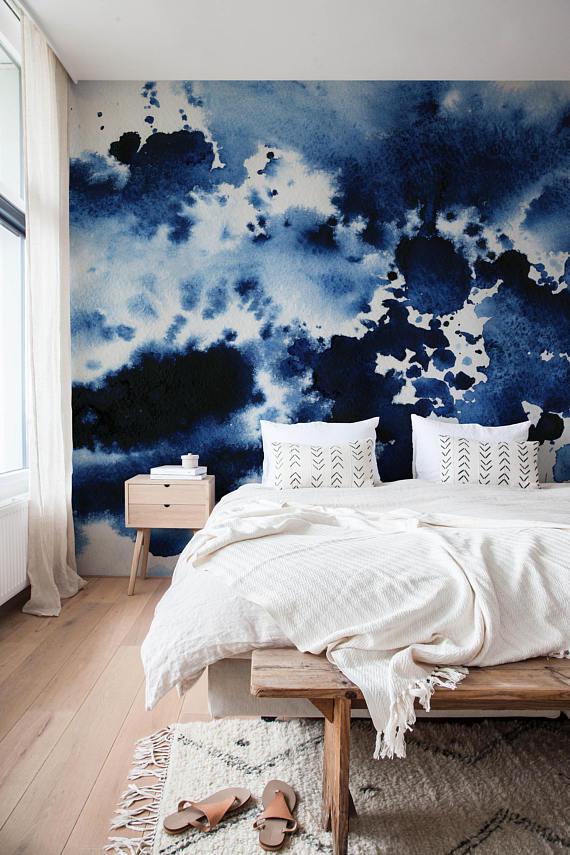 Watercolor Wallpaper Removable Wallpaper Watercolor Print Etsy In 2021 Watercolor Wallpaper Watercolor Mural Funky Home Decor