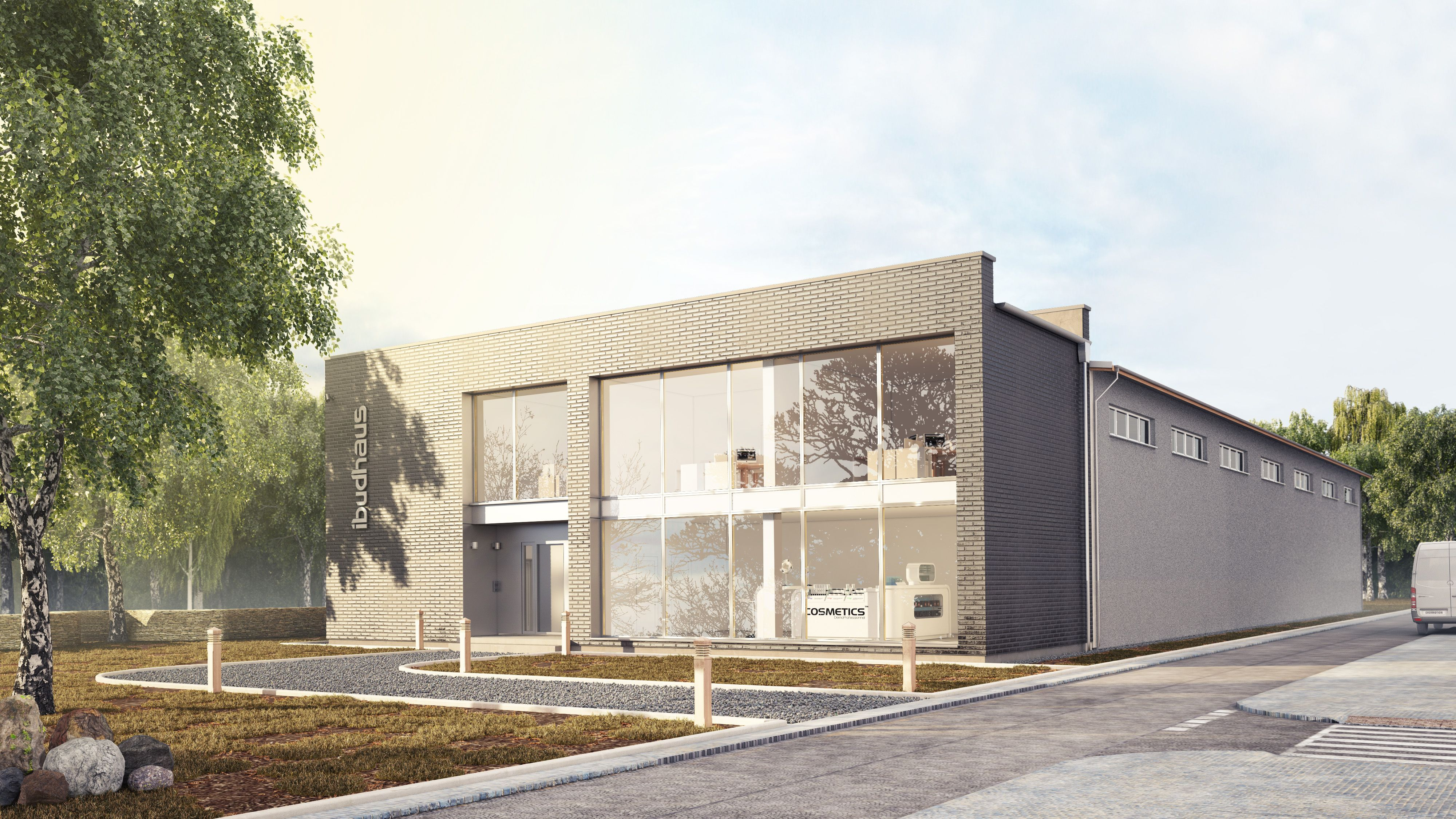 Exterior Warehouse rendering   Architectural 3D Visualization ...