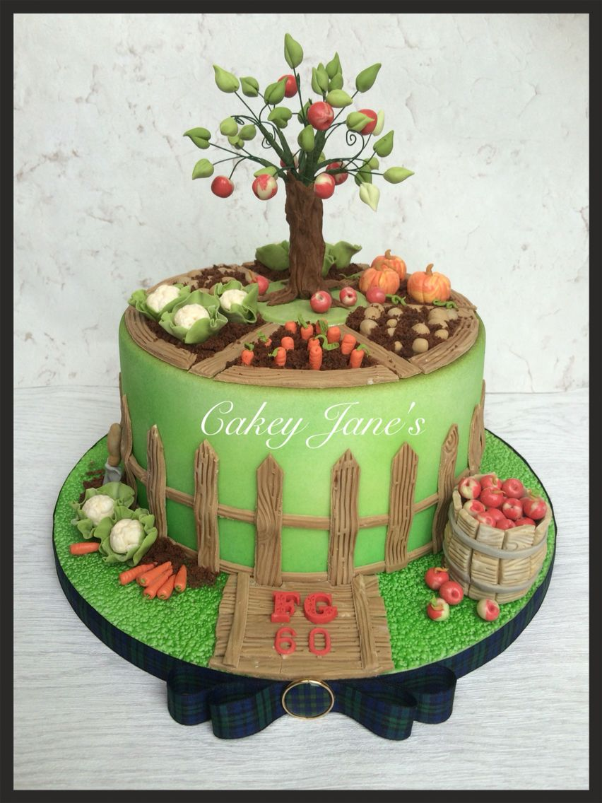 Country Garden birthday cake Triplelayer lemon cake with lots of