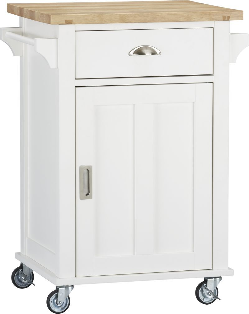 Belmont White Kitchen Cart | Crate and Barrel | For the Home ...