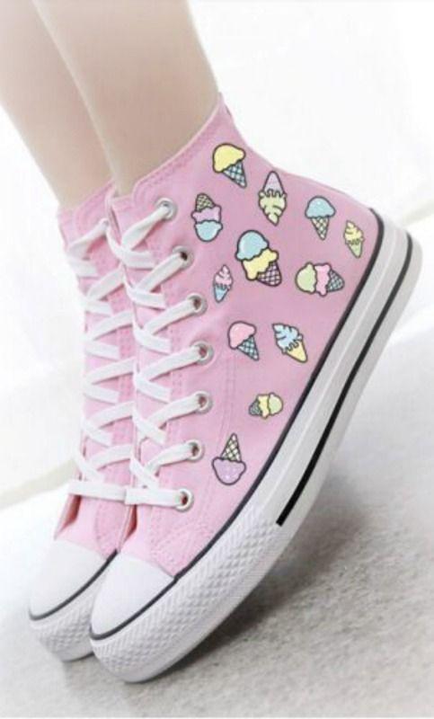 50ea3f965b11 Kawaii Converse sneakers ~ Debbie Orcutt ❤