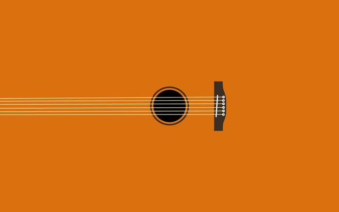 Minimalism Music Simple Guitar Musical Instrument Digital Art Wallpaper Acoustic Guitar Guitar Minimalist Desktop Wallpaper