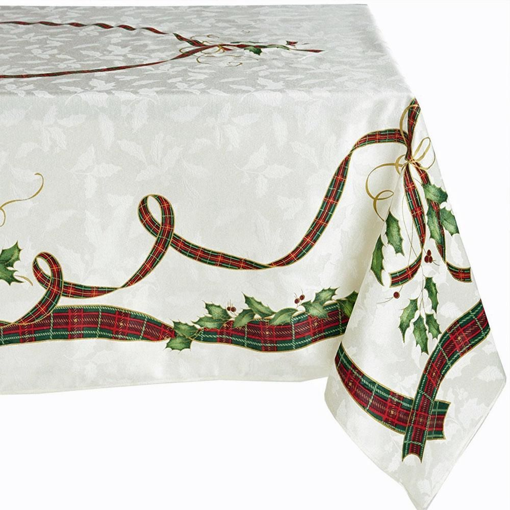 Lenox Holiday Nouveau Fabric Tablecloth In 2019 Products Tablecloth Fabric Fabric Holiday
