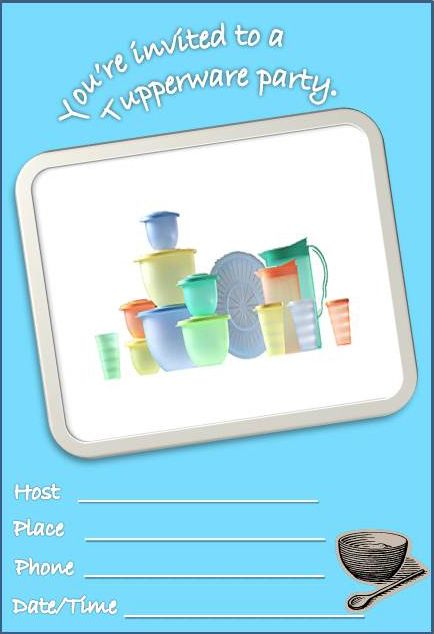 Tupperware party invitations tupperware pinterest for Tupperware business card templates