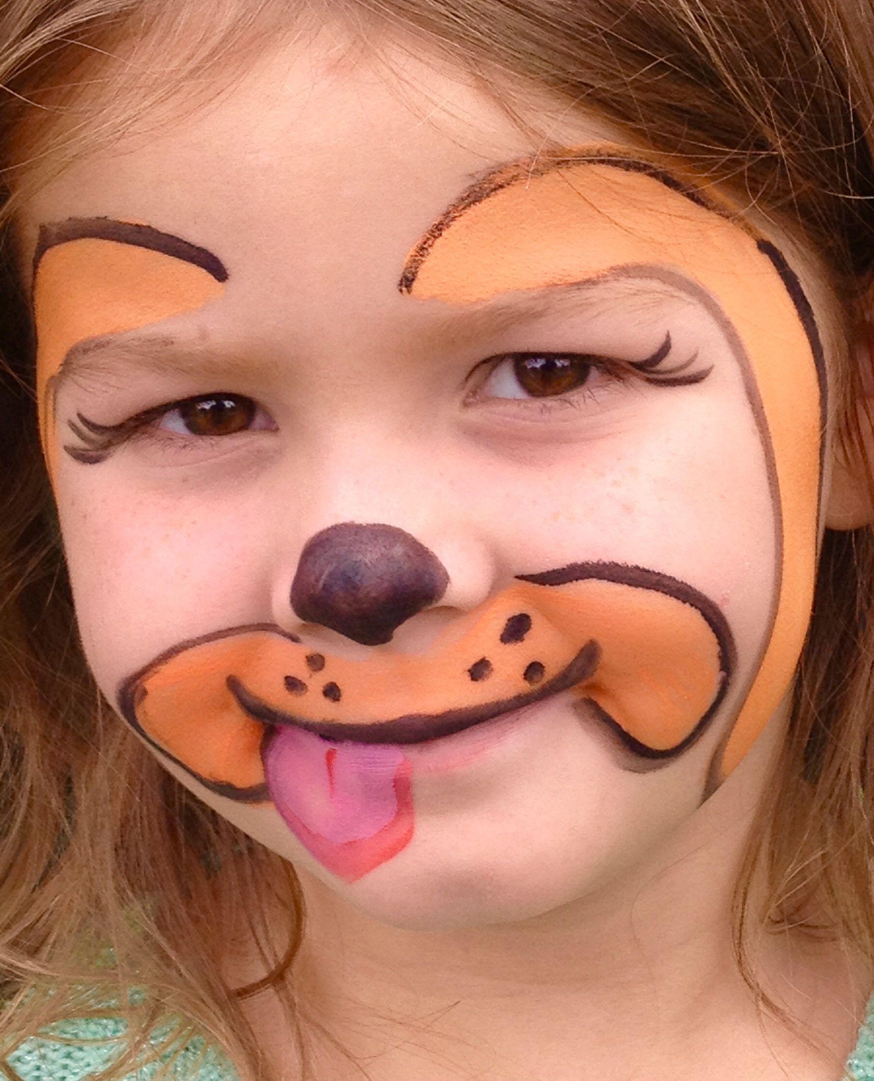Dog Facepaint Golden Retriever Eye La S Facepainting Body