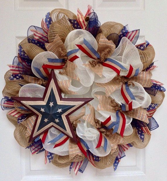 Hey, I found this really awesome Etsy listing at https://www.etsy.com/listing/197735847/ole-glory-patriotic-star-wreath-handmade