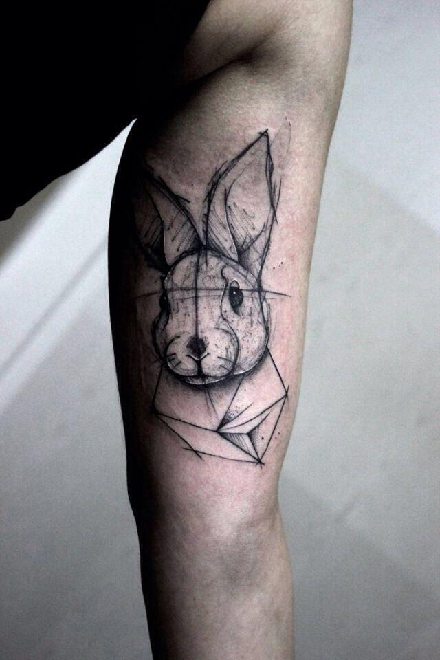 Rabbit tattoo sketch